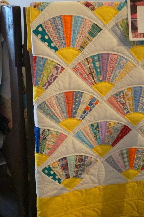 vintage fan quilt