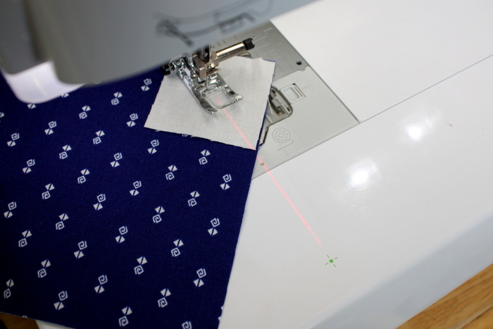 Laser beam sewing guide Babylock