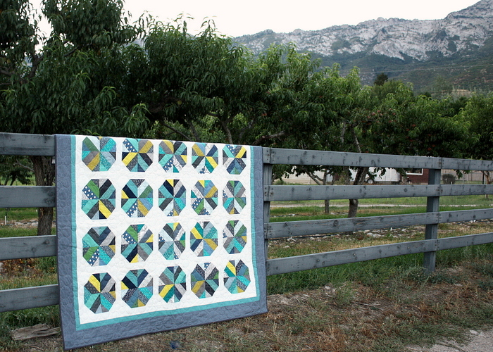 Bushel and a Beck Jelly Roll quilt by Amy Smart