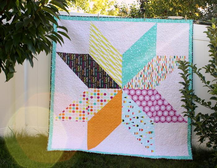 Boardwalk Delight Giant Star quilt