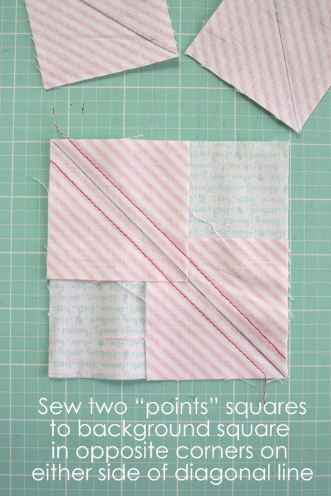 Fast Flying Geese + Sawtooth Star Quilt Block Tutorial featured by top US quilting blog, Diary of a Quilter