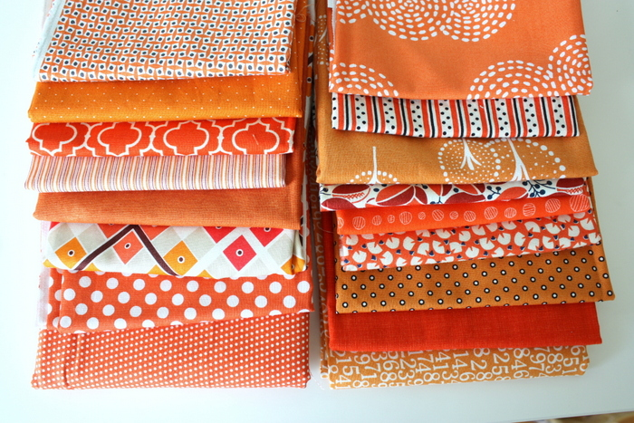 Mix of scale fabric prints