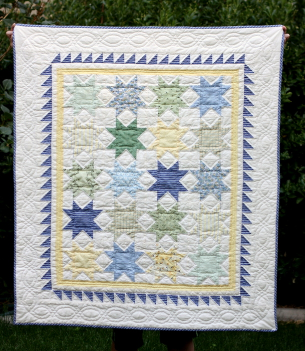Fast Flying Geese + Sawtooth Star Quilt Block Tutorial featured by top US quilting blog, Diary of a Quilter: Sawtooth Star quilt