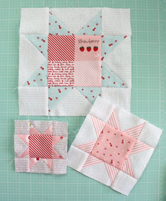 Fast Flying Geese + Sawtooth Star Quilt Block Tutorial featured by top US quilting blog, Diary of a Quilter: Sawtooth Star sizes
