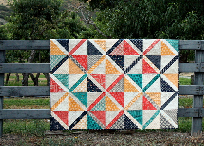 Valley Large Crosshatch pre-cuts quilt