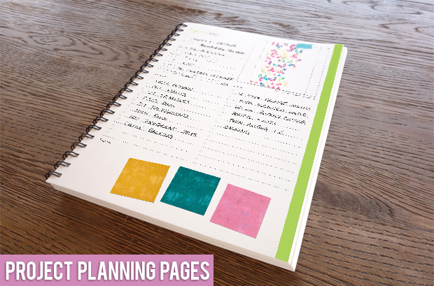 THe Quilter's Planner pages