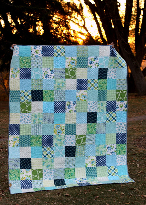 patchwork-quilt-in-blue-and-green