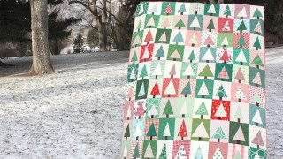 Modern Christmas Tree Quilt Block Tutorial
