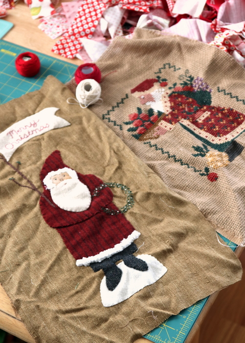 Santa wool and cross stitch