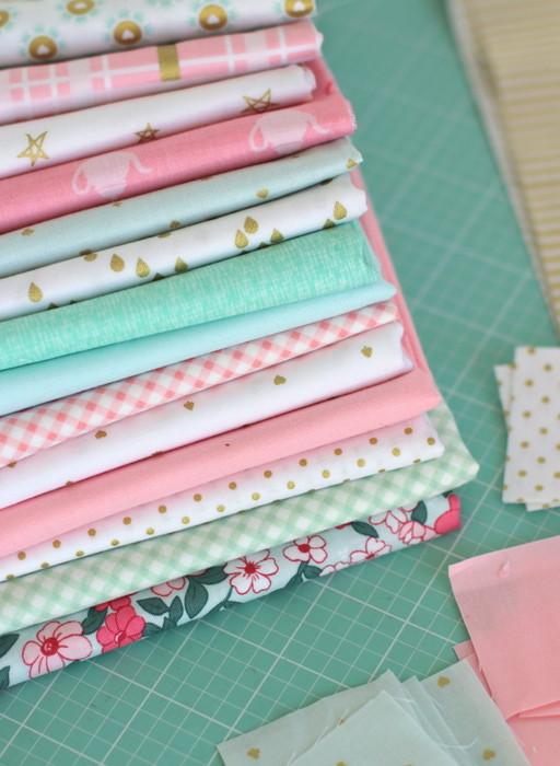 Riley Blake Gold Sparkle fabrics