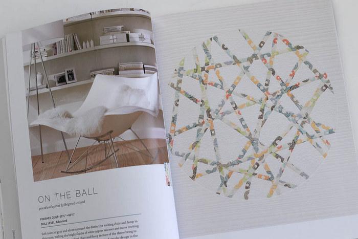 Zen Chic on the Ball modern quilt