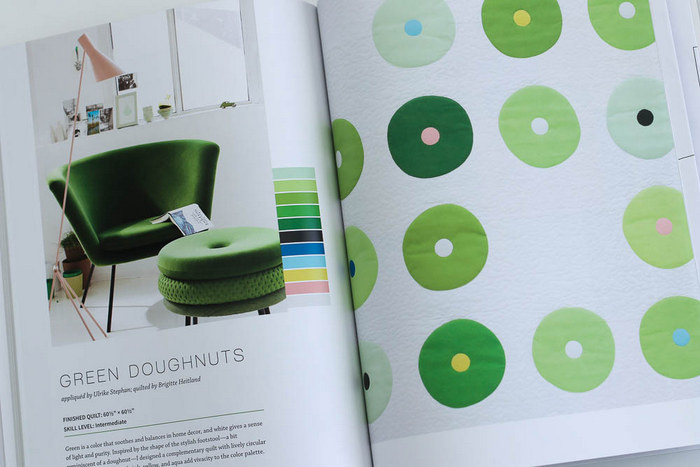 ZenChic Green Doughnuts quilt
