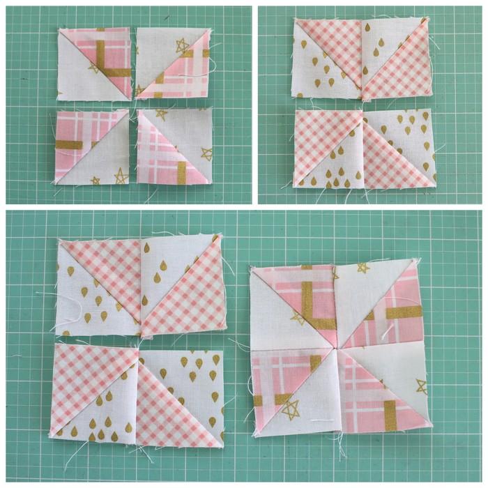 pinwheel quilt block assembly