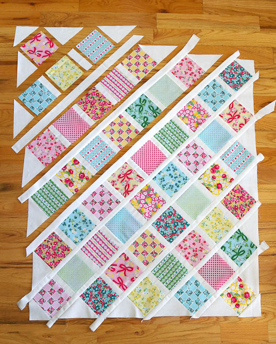 Lattice Baby Quilt Tutorial featured by top US quilt blog, Diary of a Quilter