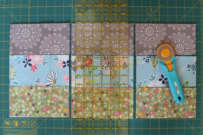 Daisy Days fabric for a Four Patch on Point Quilt Tutorial