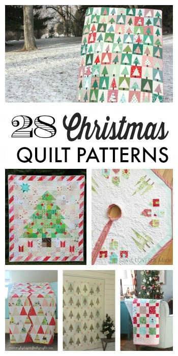 Handmade Christmas Ornament Ideas by popular Utah quilting blog, Diary of a Quilter: collage image of handmade Christmas quilts