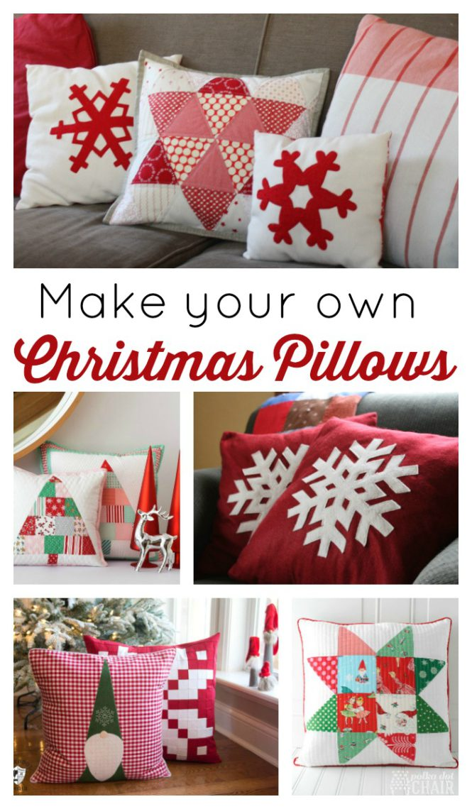 Over 15 different Christmas pillow tutorials and patterns