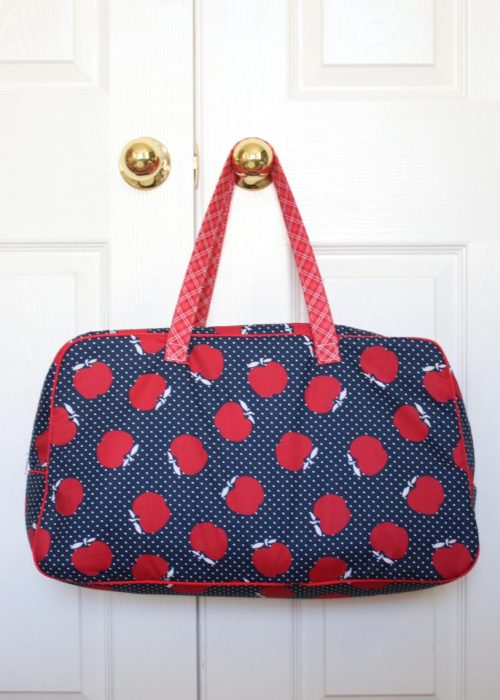 Sunnyside Ave fabric Retro Travel Bag by Melissa of Polkadot Chair
