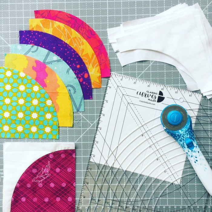 Tips to Cut and Piece curved quilt blocks