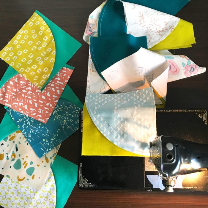 How to piece curved quilt blocks by Sharon McConnell