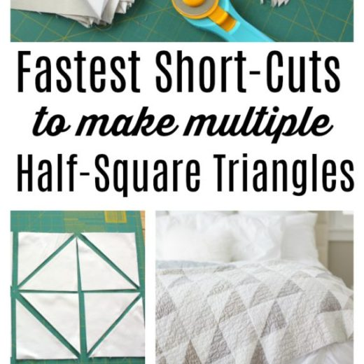 Half Square Triangle Short Cuts featured by top US quilting blog, Diary of a Quilter