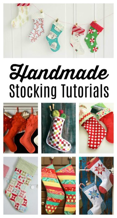 A list of 10+ Handmade Stocking Tutorials