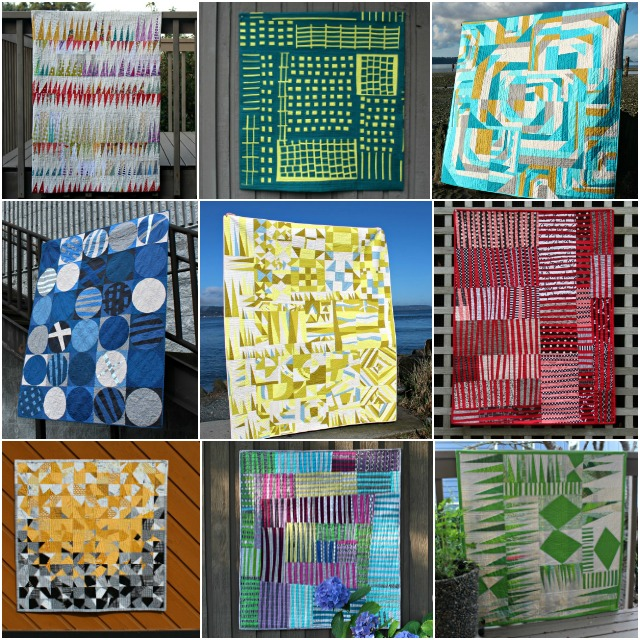 2017 Improv quilts by Debbie Jeske