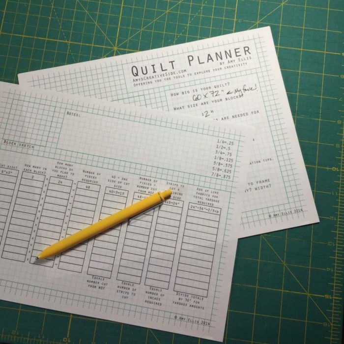 Quilt Math printable pages