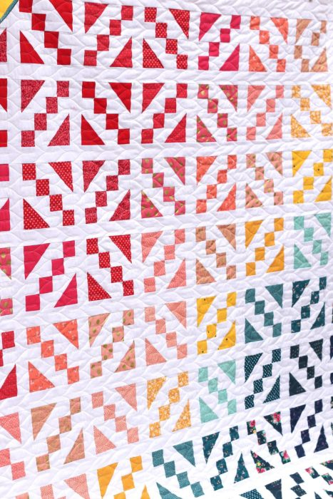 Spectrum Ombre quilt by Amy Smart featuring Fat Quarter Shop Cake Mix quilt book