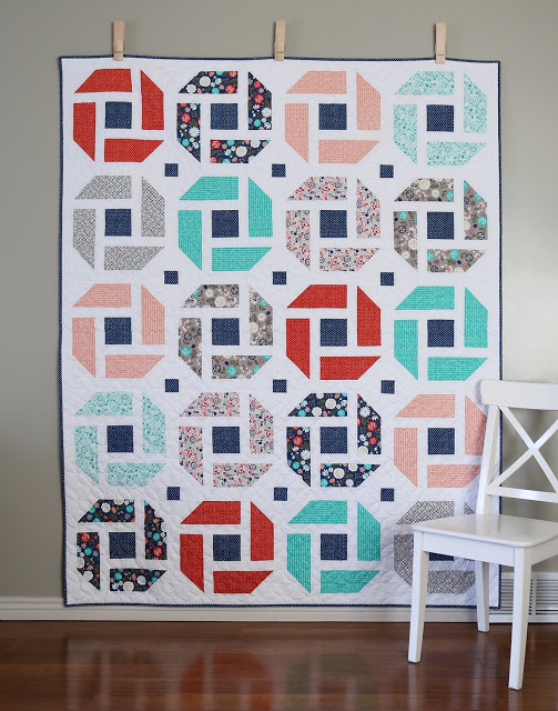 Cheerful quilt pattern by Andy of A Bright Corner