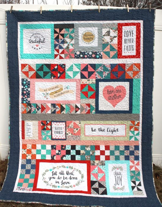 Scrappy Heart and Soul quilt by Amy Smart - Diary of a Quilter