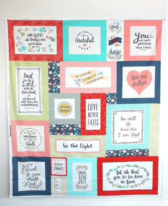 Heart and Soul Fabric Panel by Deena Rutter for Riley Blake Designs