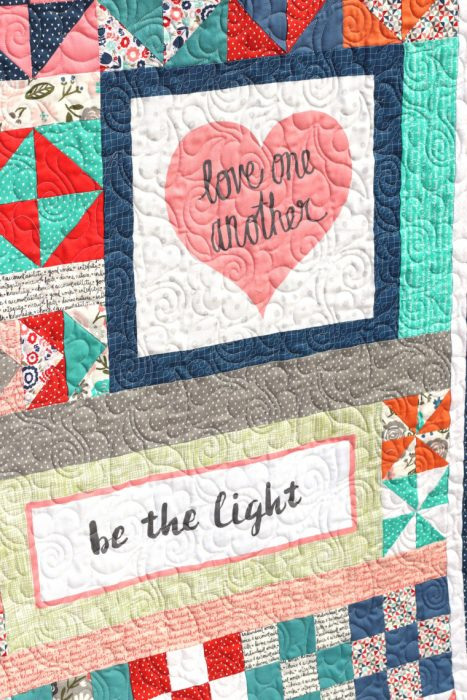 Heart and Soul fabric panel from Riley Blake Designs