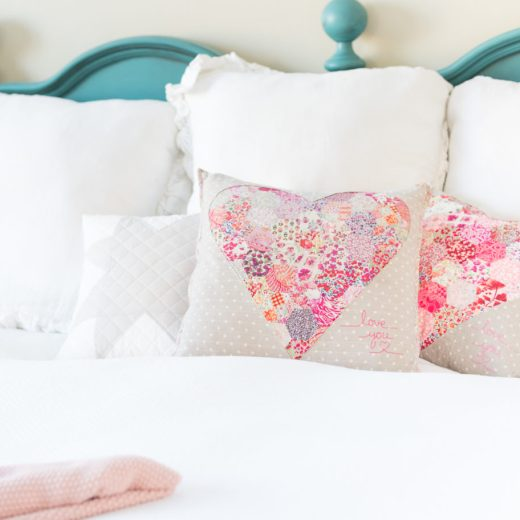 Liberty Hexagon Heart Pillow Tutorial