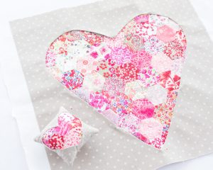 Liberty Lawn Heart Pillow Tutorial