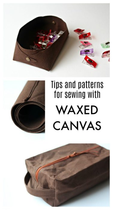 Tips for Sewing bags with Waxed Canvas fabric