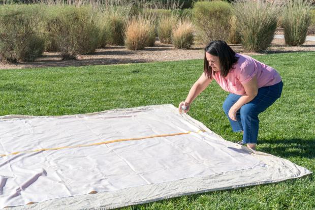 Spray Basting a Quilt tutorial
