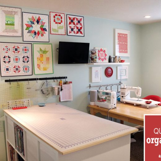 Top 10 Sewing Room Organization Tips featured by top US sewing blog, Diary of a Quilter