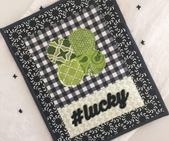 St Patrick's Day Quilt block