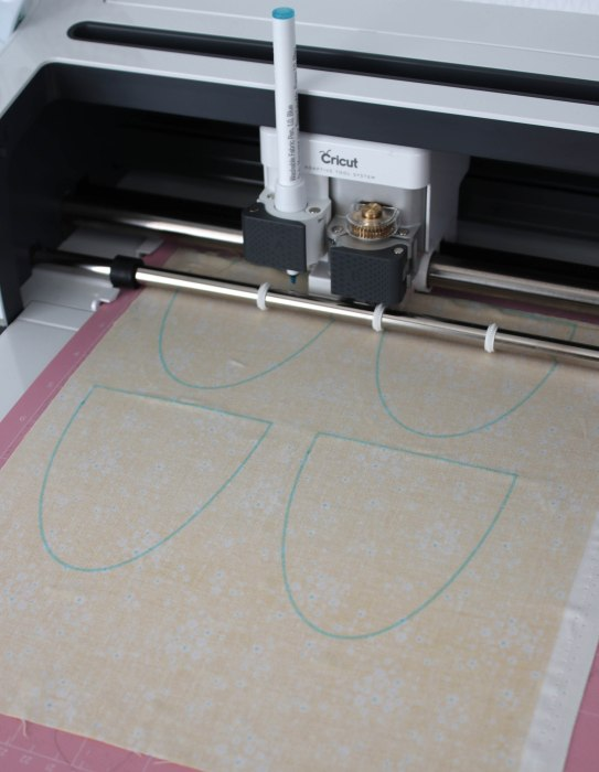 Cricut Maker cutter at work