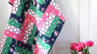 Rail Fence Baby Quilt Tutorial