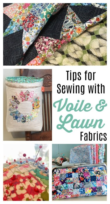 Tips for Sewing with Voile and Lawn Fabrics