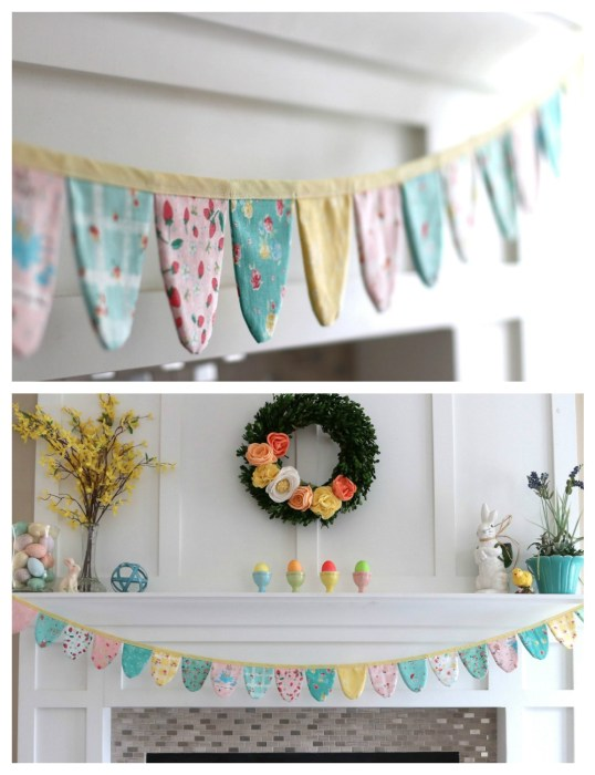 Spring Bunting made with the Cricut Maker