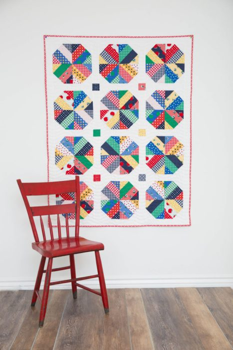 Amy Smart Quilt pattern - Bushel and a Peck - Crib quilt. Strip-pieced.