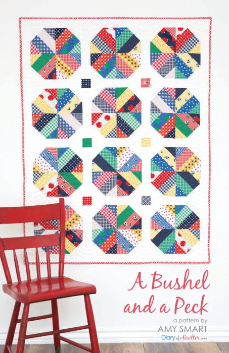 Strip piecing Jelly Roll friendly modern quilt pattern by Amy Smart