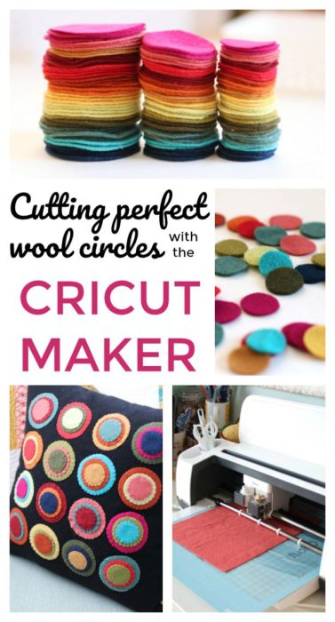 Cutting perfect wool circles with the Cricut Maker