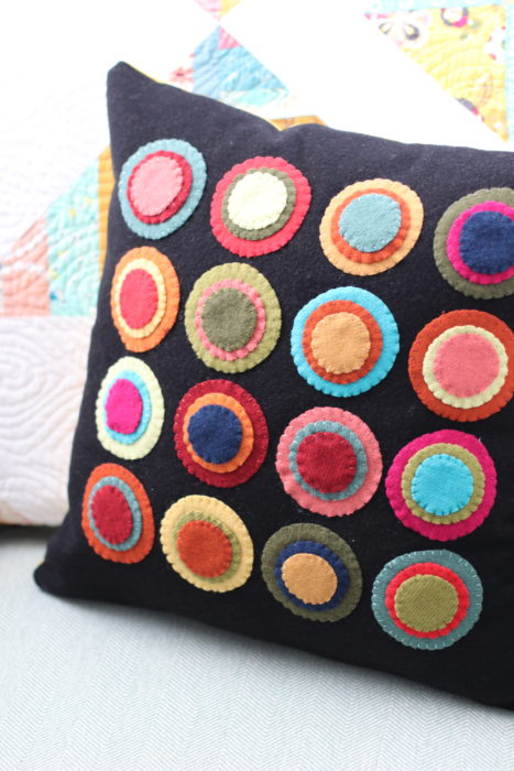 Wool Penny Rug cut with Cricut Maker