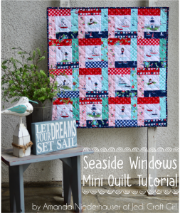 Seaside Windows mini quilt