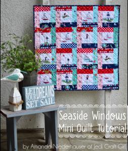 Seaside Windows mini quilt