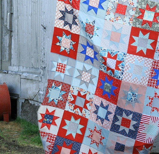 Cluck Cluck Sew No Points Star Tutorial